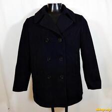 FOX KNAPP Vtg USA Wool Jacket Peacoat Pea Coat Womens Size 11/12 Navy blue