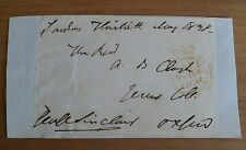 GEORGE SINCLAIR AUTHOR CAITHNESS MP SIGNED FREE FRONT AUTOGRAPH 19th CENTURY*