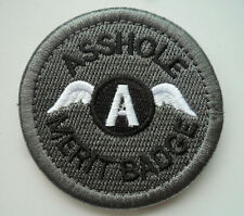 AS***LE MERIT BADGE MORALE TACTICAL MILITARY    PATCH    sk  563
