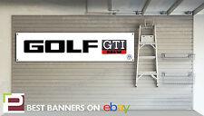 VW Golf GTi Retro Workshop Garage Banner Volkswagen, Mk1 Golf, Mk2 Golf
