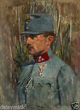 Richard Benno Adam German/Austrian? Soldier With Iron Cross World War 1 11x8""
