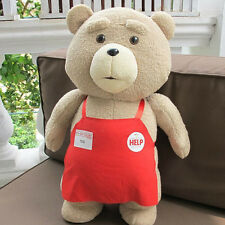Cute Movie TED2  the Sitting BEAR With Red Apron PLUSH Toy Teddy Christmas Gifts