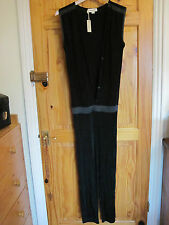 DIESEL BLACK JUMPSUIT CATSUIT SUIT SEXY trousers pants 8-10 XS New all in one
