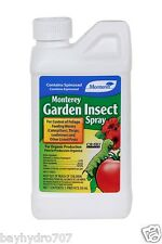 MONTEREY GARDEN INSECT SPRAY W/ SPINOSAD 16oz Pint SAVE $$ W/ BAY HYDRO
