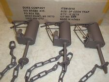 3 Powder Coated Duke DP Dog Proof Coon Foothold Traps Trapping Raccoon 0510