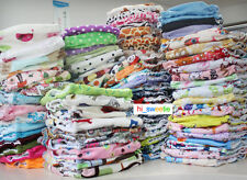 Baby Cloth Diaper One Size Pocket 10 Minky +10 printed Nappy covers no inserts