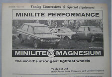 1968 Minilite Magnesium wheels Original advert No.1