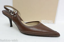 MICHAEL KORS Brown Size 6 1/2 Slingback 6.5 Heels Pumps Shoes