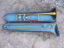 Antico Vintage la Stratford da Besson LP 16641 Trombone con boccaglio & Custodia