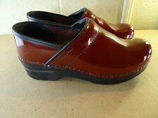 Dansko Red Leather Professional Clog Women Size 37 / 7M