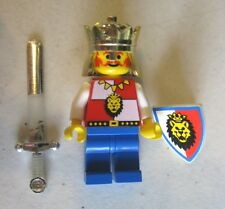 Lego ROYAL KNIGHT KING Minifigure Castle W/ Sword Shield 6008 6090 6044