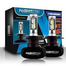 NIGHTEYE H4 50W LED Scheinwerfer Birnen Leuchte High/Low Light 6500K 8000LM Weiß