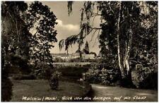 Malchin Mecklenburg  DDR Ansichtskarte 1960 Blick von den Anlagen auf die Stadt