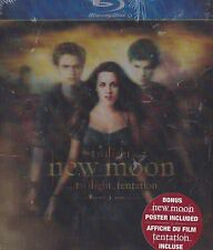 Twilight New Moon (Blu-ray, 2009, Canadian, Bonus Poster) NEW Lenticular cover