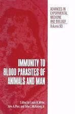 Immunity to Blood Parasites of Animals and Man (Advances in Experiment-ExLibrary