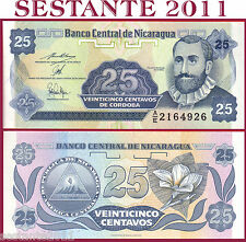 NICARAGUA  -  25 CENTAVOS 1991 -  Sign Variety 2 -  P 170 - FDS / UNC