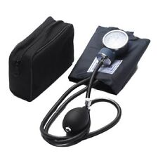 BRAND NEW ADULT BLOOD PRESSURE BP CUFF SET BLACK WITH CASE POUCH