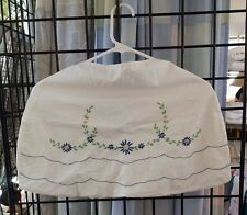 VINTAGE HAND EMBROIDERY FLORAL CLOTHES PIN HOLDER FREE SHIPPING