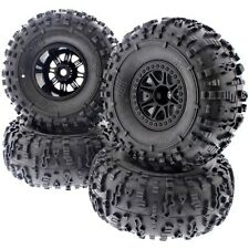 4 HB ROVER ROCK CRAWLER TIRES & SPLIT 8 TRUCK WHEELS - HPI 1/10 Crawler King