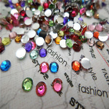 NEW decor 800pcs 4mm Facets Resin Rhinestone Gems Flat Back Crystal beads  TRY10