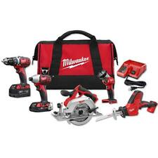 Milwaukee M18 18-Volt Lithium-Ion Cordless Combo Kit (5-Tool) New Set