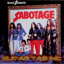 Black Sabbath Guitar Tab SABOTAGE Lessons on Disc Ozzy