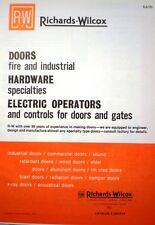White Consolidated Industries Richards Wilcox ASBESTOS Fire Doors Catalog 1979