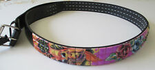 Men's Fashion Studded Belt (New M) Mermaid & Roses Stud, Genuine Italian Design