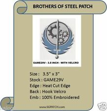 FALLOUT GAME - BROTHERS OF STEEL  PATCH WITH VELCRO- GAME29V