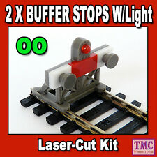 PBF-OO-06 Proses OO 1:76 Scale Laser-Cut Buffer Stop Kit w/Light 2