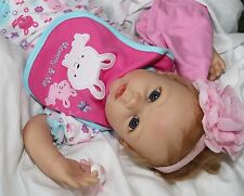 MOMMY LOVES ME! Lifelike Moving 22 Inch Pacifier Baby Girl Doll + 2 Outfits