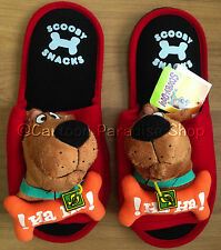 NWT SCOOBY DOO SOFT PLUSH SLIPPERS SHOES ADULT UK SIZE 4-8, US 6-10, EU 36-42