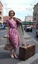 VEB Berliner Damen Moden Kleid Sommerkleid Blumen 30er Stil True VINTAGE 80er