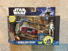 Star Wars Clone Wars Republic Scout Speeder with ARF Trooper NEW