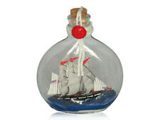 Ship in a Glass Bottle, Nautical Boat Gift, Decorative Ships in Bottles (D)