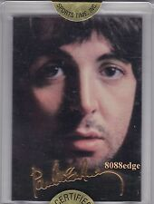 1996 SPORTS TIME BEATLES 24KT GOLD SIGNATURE CARD: PAUL McCARTNEY #2 REDEMPTION