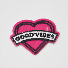 2pc Good Vibes LOGO Embroidery Iron on patch sewn applique Embroidered DIY Motif