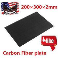 1PC 200×300×2mm With 100% Real Carbon Fiber plate/panel/sheet 3K Plain Weave B2