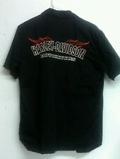 HARLEY-DAVIDSON  Motorcycles WORKSHIRT HD-PERFORMANCE SIZE M EMBRORIDRED  LOGOS