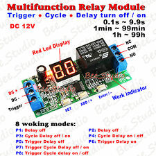 DC 12V Digital LED Display Infinite Cycle Delay Timer Switch ON/OFF Relay Module