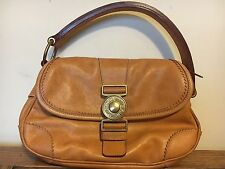 Authentic MIU MIU Italian Leather Single Strap Flap Front By Prada Designer Hobo