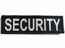 SECURITY PATCH Official doorman guard officer badge sew on hat jacket cap black