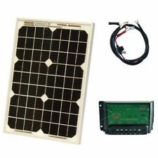 12V Solar Car Battery Charger 10W Portable Panel Camping Power Truck Boat