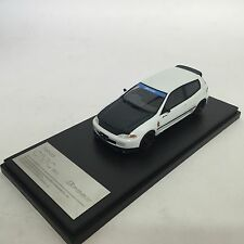 1/43 Hi-story Honda Civic SIR-II Spoon EG6 White with Carbon Bonnet