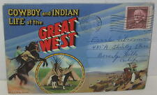 "1954 ""Cowboy and Indian: Life in the Great West"" Postcard Foldout"