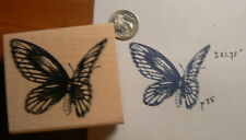 "Butterfly rubber stamp 2x2"" WM"