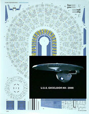 Aztec Decals for the Star Trek EXECELSIOR 1/1000 scale model