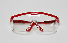 Dental Lab Student Protective Eyewear Goggles Glasses Red Frame Infection Care
