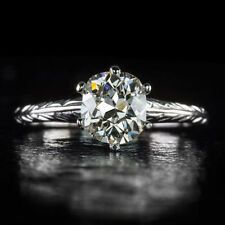 ANTIQUE 1ct OLD MINE CUT DIAMOND 1 CARAT VS1 CERTIFIED SOLITAIRE ENGAGEMENT RING