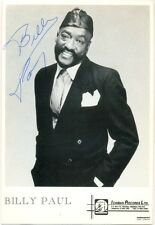 Billy Paul signed photo autograph 1980s American soul singer Me and Mrs. Jones